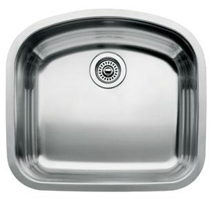 Blanco 440249 Blancowave Undermount Kitchen Sink - Stainless Steel
