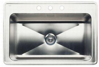 Blanco 440280 Blancomagnum Single Bowl Drop-In Kitchen Sink - Stainless Steel