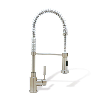 blanco meridian semi professional kitchen faucet blanco 440557 meridian semi professional kitchen faucet satin nickel faucetdepot com 4691