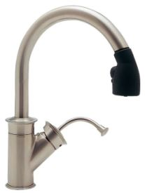 Blanco 440674 Rados Traditional Pull-Out Kitchen Faucet - Satin Nickel