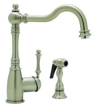 Blanco 440685 Grace Kitchen Faucet with Side Spray - Satin Nickel