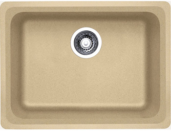 Blanco 441368 Vision Single Bowl Silgranit II Kitchen Sink - Biscotti