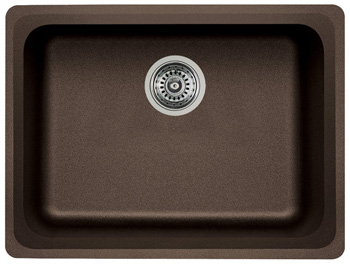 Blanco 441369 Vision Singl Bowl Silgrant II Kitchen Sink - Cafe Brown