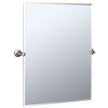 Gatco 4859S Max Rectangular Mirror Satin Nickel