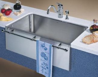 Blanco 440294 Blancomagnum Specialty Single Bowl Sink with Apron and Towel Bar - Stainless Steel