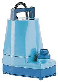 Little Giant 5-MSP 1/6 HP, 1200 GPH, 230V - Submersible Utility Pump, 12' Power Cord (505202)