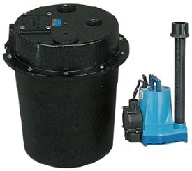 Little Giant WRS-5, 1/6 HP, 15 GPM @ 5' - Submersible Utility Pump, Water Removal System w/ 5 gal. Tank & 10' Power Cord (505055)