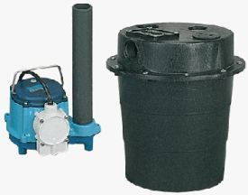 Little Giant WRS-6, 1/3 HP, 115V - Submersible Utility Pump, Water Removal System w/ 5 gal. Tank. & 8' Power Cord (506055)