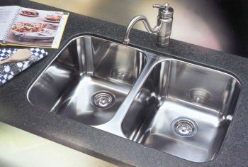 Blanco 440224 Blancosupreme 2 Equal Bowl Undermount Kitchen Sink - Stainless Steel