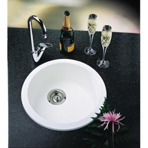 Charmant Blanco 511631 Rondo Round Drop In Silgranit Bar Sink   White