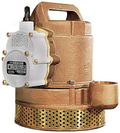 Little Giant 12-CBA 1/2 HP, 83 GPM - Bronze Automatic Submersible Sump Pump, 25' Power Cord (512125)