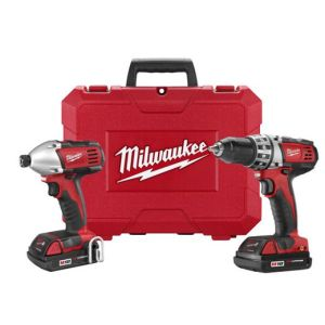 Milwaukee 2691-22 M18 2-Tool Combo Kit with Compact Drill and Impact Driver