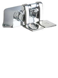 625-CP Chicago Faucets Commercial Pedal Valves in Chrome