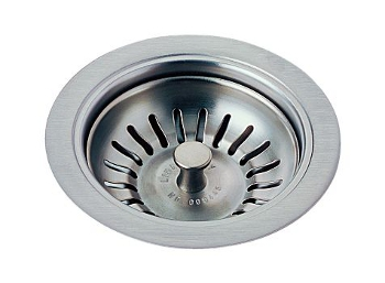 Delta 72010-AR Classic Kitchen Sink Basket Strainer and Flange - Arctic Stainless