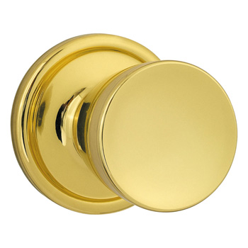 Kwikset 720A-3-6AL-SCS Abbey Hall / Closet Door Knob - Polished Brass
