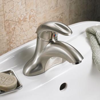 American Standard 7385.000.295 'Reliant 3' Single Control Centerset Lavatory Faucet - Satin Nickel