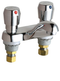 802-665CP Chicago Faucets Commercial Lavatory Centerset Faucet - Chrome