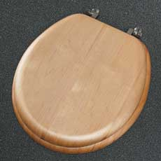 9601BR-418 Church Natural Reflections Round Wood Veneer Toilet Seat - Maple