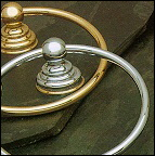A2040PB Alno Carlton Series Towel Ring Polished Brass