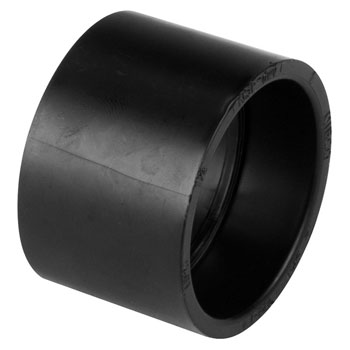 4 inch abs dwv plastic fittings coupling h x h for Copper vs plastic pipes