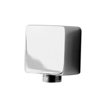 Aqua Brass 1401BN Square Inline Waterway 1/2 inch  f x m - Brushed Nickel