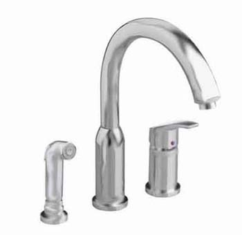 American Standard 4101.301.075 Arch Hi-Flow Kitchen Faucet - Stainless Steel (Pictued in Polished Chrome)