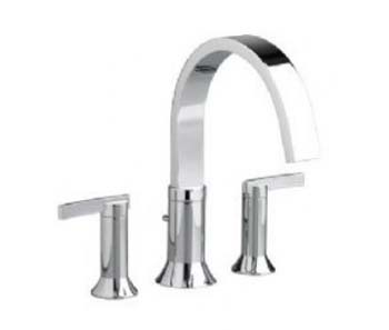 American Standard 7430.900.002 Berwick Double Lever Handle Deck Mount Tub Filler - Chrome