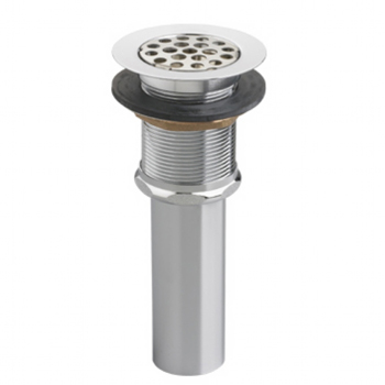 American Standard 2411.015.295 Perforated Grid Strainer Sink Drain - Satin Nickel (Pictured in Chrome)
