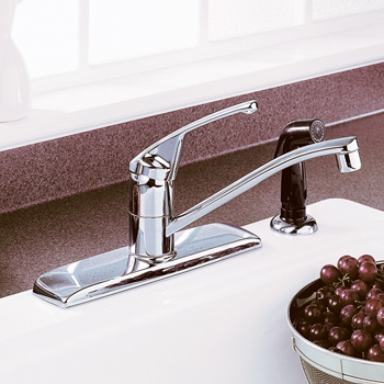 American Standard 4175.203.002 Colony Single Control Kitchen Faucet - Polished Chrome