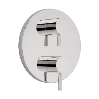 American Standard T064.740.295 Serin Two Handle Thermonstat Trim Kit - Satin Nickel (Pictured in Polished Chrome)