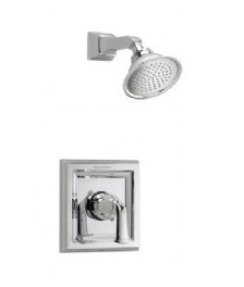 American Standard T555.521 Town Square Single Handle Shower Valve Trim Only Less Valve and Spout, with Rain Shower Head - Satin Nickel (Pictured in Polished Chrome)