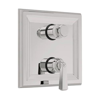 American Standard T555.740.295 Town Square Two Handle Thermostat Valve Trim Kit - Satin Nickel (Pictured in Polished Chrome)
