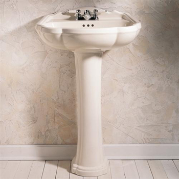 American Standard 0240.100.222 Repertoire Pedestal Sink Top with Center Hole - Linen