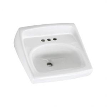 American Standard 0355.034.020 Lucerne Wall-Mount Sink - White