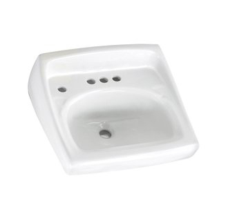 American Standard 0355.056 Lucerne 4 Hole Wall-Mount Sink - White