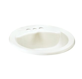 American Standard 0419.444EC Cadet Everclean+ Oval Sink - Linen (Pictured in White)