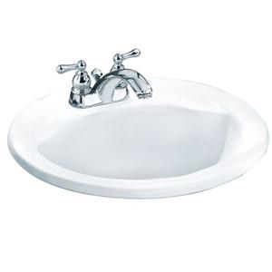 American Standard 0419.444EC.020 Cadet Everclean Oval Countertop Sink - White