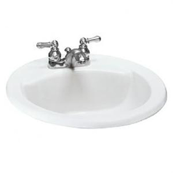 American Standard 0427.444EC.222 Cadet Everclean Countertop Round Sink - Linen (Pictured in White)