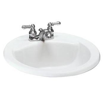 American Standard Cadet Everclean Countertop Round Sink White