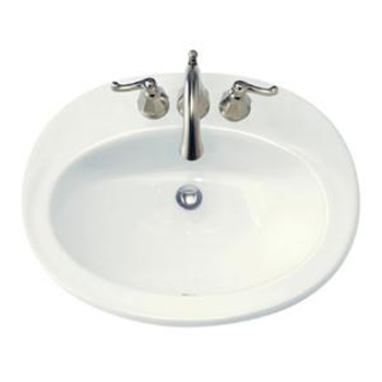 American Standard 0478.803.020 Piazza Countertop Sink - White