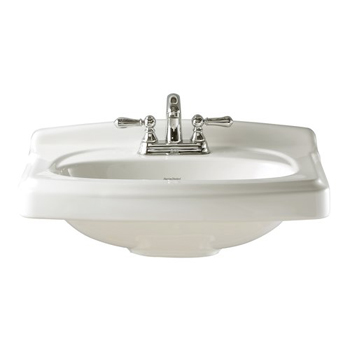American Standard 0555.104.020 Portsmouth Pedestal Basin with 4