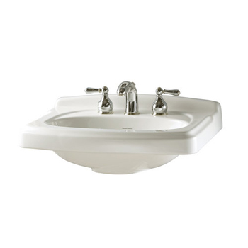 American Standard 0555.108.020 Portsmouth Pedestal Basin with 8
