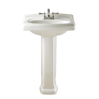 American Standard 0555.401.020 Portsmouth Complete Pedestal Sink with 4