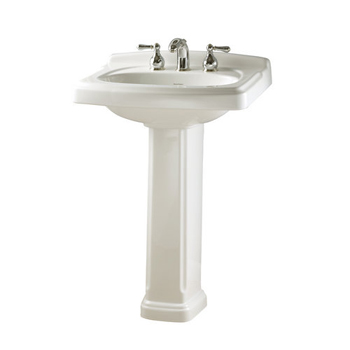 American Standard 0555.801.020 Portsmouth Complete Pedestal Sink with 8