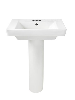 American Standard 0641.400.020 Boulevard Complete Pedestal Sink with 4