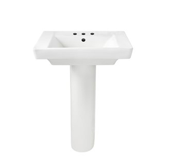 American Standard 0641.800.020 Boulevard Complete Pedestal Sink with 8
