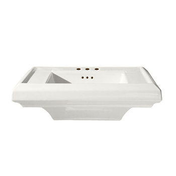 American Standard 0790.008.020 Town Square Pedestal Basin with 8