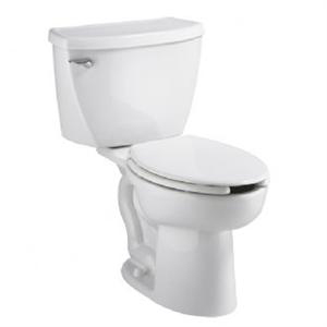 American Standard 2467.016.020 Cadet Right Height Pressure Assisted Elongated Toilet (1.6 gpf/6.0 Lpf) - White