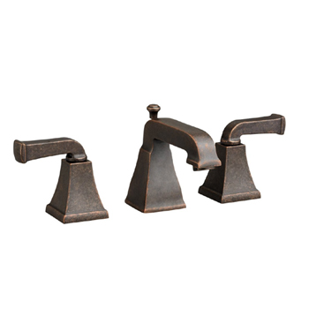 American Standard 2555.821 Town Square Double Handle Widespread Lavatory Faucet - Oil Rubbed Bronze
