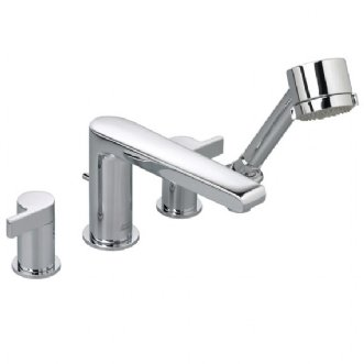 American Standard 2590.901 Studio Double Handle Roman Tub Filler Faucet with Personal Hand Shower - Polished Chrome